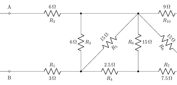 Esempio 1cc: Serie-Parallelo di resistenze