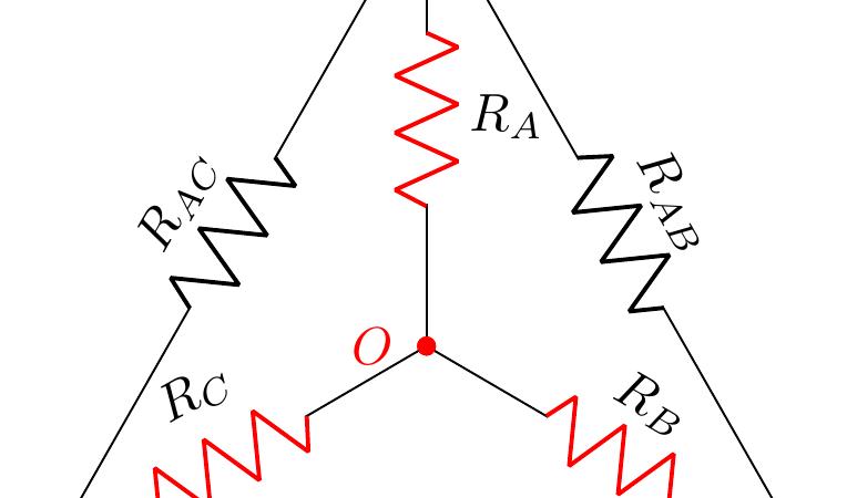 Topologia Triangolo-Stella e Stella-Triangolo di resistenze